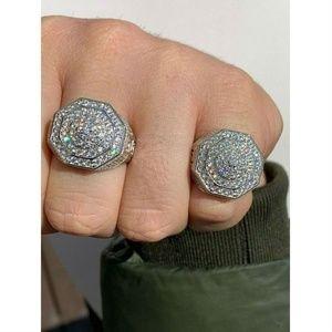 Harlembling Men 925 Sterling Silver Hip Hop Ring